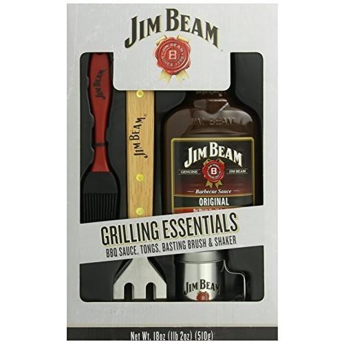 Jim Beam: Grilling Essentials - Sauce, Tongs, Basting Brush & Shaker