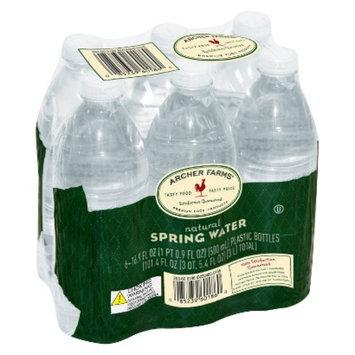 Archer Farms Spring Water .5 L -6 pk