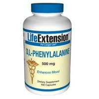 Life Extension DL Phenylalanine 500mg 100 caps 100 Capsules