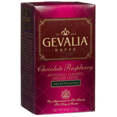 Gevalia Chocolate Raspberry Ground Coffee, Decaffeinated, 8 Ounce Packages