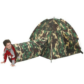 Pacific Playtents Command HQ Tent and Tunnel Combo