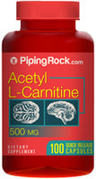 Piping Rock Acetyl L-Carnitine 500mg 100 Capsules