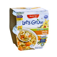 Beech Nut Let's Grow Turkey Rice Vegetables Steam Cooked Mini Meals for Toddlers  - 2CT