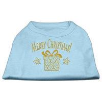 Ahi Golden Christmas Present Dog Shirt Baby Blue XS (8)