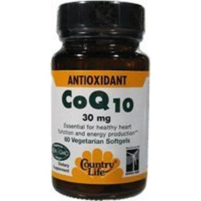 Country Life Coenzyme Q10, 30 mg, 60-Count