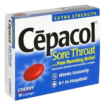 Cepacol Extra Strength Instant Relief Sore Throat Lozenges, Cherry 18 ea