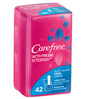 Carefree Acti-Fresh Long Liners, Unscented