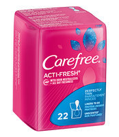 Carefree® Acti-Fresh® Thin Liners, Unscented