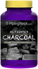 Piping Rock Activated Charcoal 260mg 180 Capsules