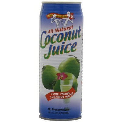 Amy & Brian Natural Coconut Juice Pulp Free, 17.5 Ounce Can (Pack of 12)