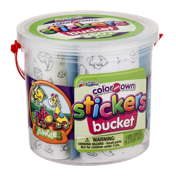 ArtSkills Color Your Own Stickers Bucket