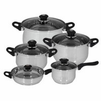 Magefesa Family Stainless Steel Cookware set, 10 Piece, 1 ea