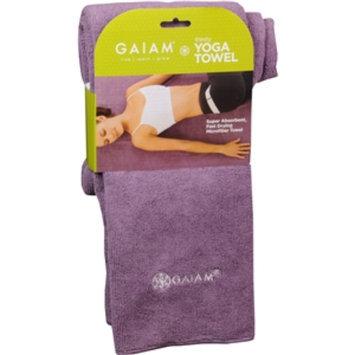 Gaiam Yoga Thirsty Yoga Towel, Smoke Purple, 1 ea