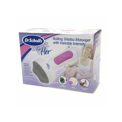 Dr. Scholl's for Her Rolling Shiatsu Massager with Variable Intensity