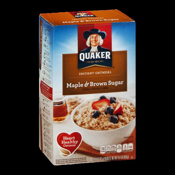 Quaker Instant Oatmeal Maple & Brown Sugar - 10 CT