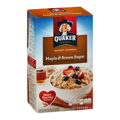 Quaker Instant Oatmeal Maple & Brown Sugar - 10 CT