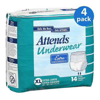 Attends Extra Absorbency Extra Large Protective Underwear