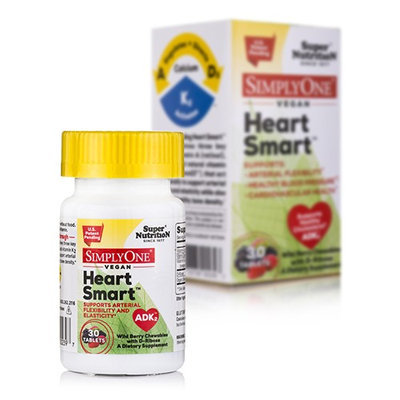 Super Nutrition - SimplyOne Vegan Heart Smart ADK2 Wild Berry with D-Ribose - 30 Chewable Tablets