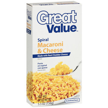 Great Value Spiral Macaroni & Cheese Dinner Mix, 5.5 oz