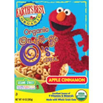 Earth's Best Organic On The Go O's Cereal, Apple Cinnamon, 6.5 Ounce Boxes (Pack of 6)