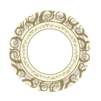 Hanna K Signature Hanna K. Signature 90074 7 in. Gold Medley Paper Plate Everyday Ensembles - 1440 Per Case