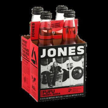 Jones Soda Fufu Berry Flavor - 4 CT