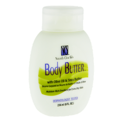 Naturally Clear Skin Olive Oil & Shea Butter Body Butter