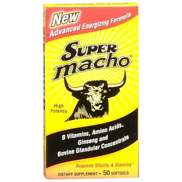 Super Macho Vitality and Stamina Dietary Supplement Softgel