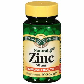 Spring Valley Natural Immune Health 50mg Zinc Caplets