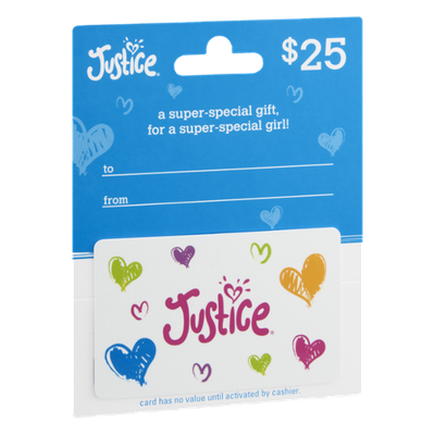 Justice $25 Gift Card