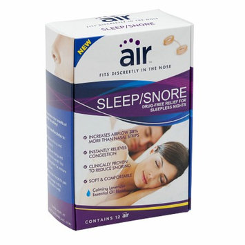 air SLEEP/SNORE - Drug-free Snoring Relief Nasal Breathing Aid