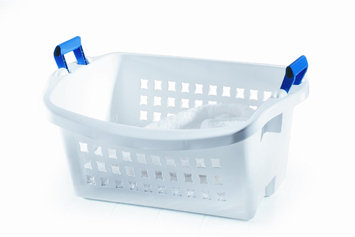 Rubbermaid StackN Sort Laundry Basket FG292800WHT - Pack of 6