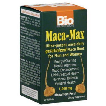 Bio-nutrition Bio Nutrition Maca-Max Dietary Supplement Tablets, 1000mg, 30 count