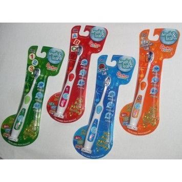 Plackers Kids Brush & Learn Toothbrush Plackers Kids, Brush and Learn, Toothbrush Talk, Multiple Colors (Orange)