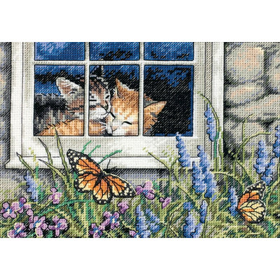 Dimensions Gold Collection Petite Feline Love Counted Cross Stitch Kit