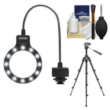Sunpak DSLR67 LED Macro Ring Light with Tripod + Cleaning Kit