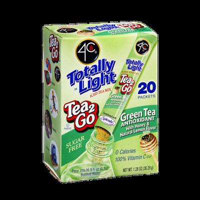 4C Totally Light Sugar Free Tea 2Go Green Tea Antioxidant with Honey & Natural Lemon Flavor Drink Mix - 20 CT