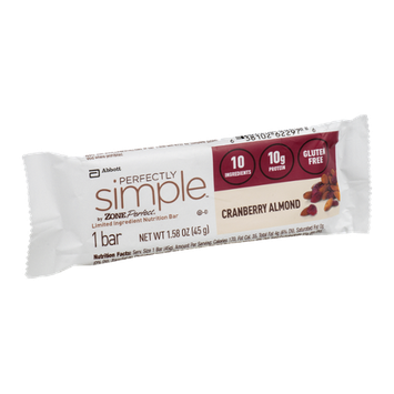 Perfectly Simple Nutrition Bar Cranberry Almond