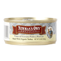 Newman's Own Organics 5.5oz Turkey & Vegetable Formula for Cats