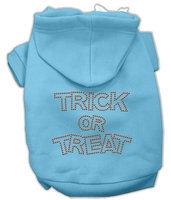 Mirage Pet Products 541304 XXXLBBL Trick or Treat Rhinestone Hoodies Baby Blue XXXL 20