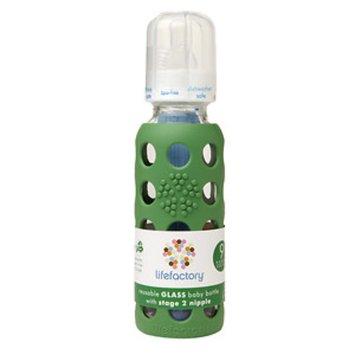 Lifefactory Glass Bottle w/ Sleeve - 9 oz - Grass Green