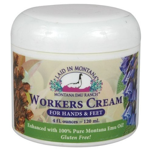 Worker's Hand Cream Laid In Montana 4 oz Cream