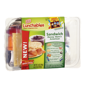 Lunchables Oscar Mayer Sandwich  Honey Ham + American