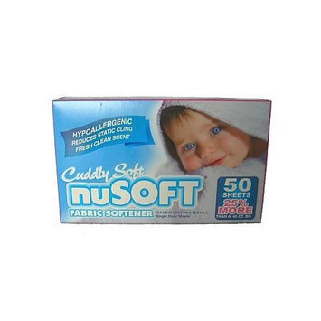 nuSOFT Hypoallergenic Fabric Softener Dryer Sheets 2pk