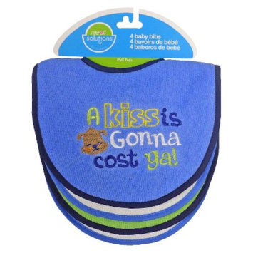 Neat Solutions 4pk Att Sayings Knit Terry Bib Set