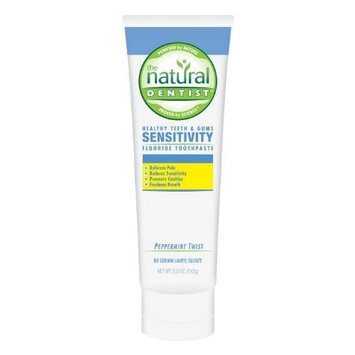 The Natural Dentist Healthy Teeth and Gums Sensitivity Toothpaste, Peppermine Twist, 5 Ounce