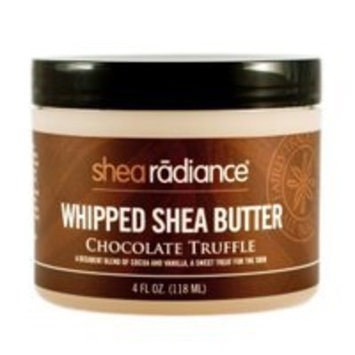 Shea Radiance Chocolate Truffle Whipped Shea Butter 2 oz Cream