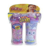 Nuby 9-Ounce Insulated Clik-It Cool Sipper 2-Pack - Knight & Rocketship
