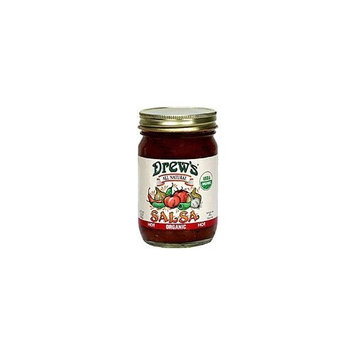 Drews All Natural Drew's All-Natural Organic Salsa, Hot, 12-Ounce Jar
