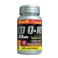 2 Pack Special of MASON NATURAL Q-10 CO-ENZYME 30MG SOFTGELS 30 per bottle